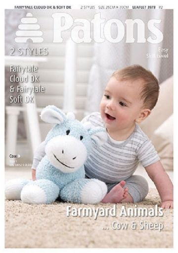 Patons Farmyard Animals Toy Knitting Pattern 3973